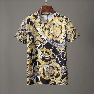 2020 Erkek Tasarımcı Gömlek Yaz Erkekler Kadınlar Kısa Gömlek Marka Giyim Harf Desen Baskılı Tişörtler Mürettebat Neck Casual T Shirts