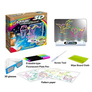 Magic Color Scratch Art Paper Coloring Cards Available On Both Sides Scraping Drawing Toys For Children Pen 3D Glasses