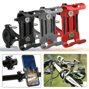Ajustable del sostenedor de aluminio de la motocicleta de la bicicleta del teléfono celular Monte ciclo MTB del manillar para el GPS