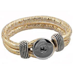 Bouton Noosa Ginger snap Bracelet 18mm Interchangeable Bouton Mode Bijoux Hommes serpent Motif cuir Bracelet chaîne 10 couleurs