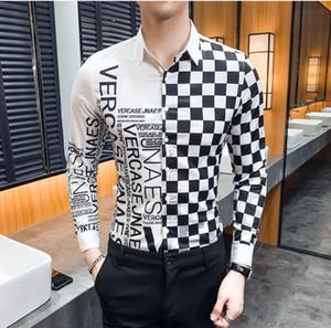 Erkek giyim Elbise gömlek SS = 3D parti kulüp tasarımcı adam gece kulübü yılan başında uzun kollu Medusa gömlek erkekler yazdırmak