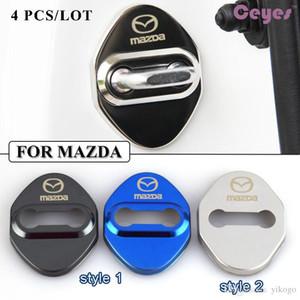 puerta de coche logo tapa de la cerradura divisa de los emblemas de Mazda 3 accesorios 6 2 cx3 cx5 CX7 323 Cierre de puerta protector de coches de estilo