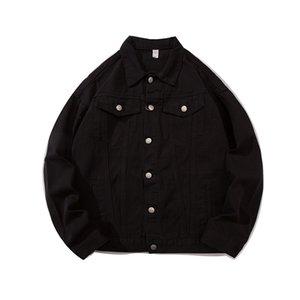 New Luxury Black Denim jacket cartoon pattern men's and women's jackets