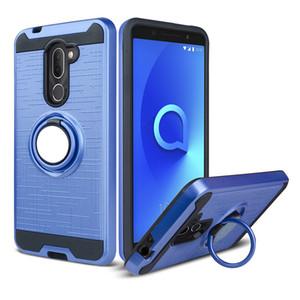 Para LG Aristo 3 Tribute Empire Samsung Glaxy J2 Core J260 J2 2019 Hybrid Armor Case 360 Degree Rotación soporte para teléfono de coche cubierta magnética
