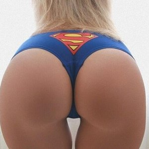 Calças Superman E.U.A Capitão Impressão Sexy Taste Senhora Triângulo Cuecas em forma de T