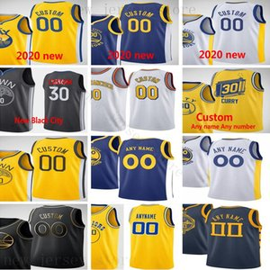 Custom Printed Jerseys Top Quality 2020 New Yellow Blue White Gold Black Jersey Message Any number and name on the orde