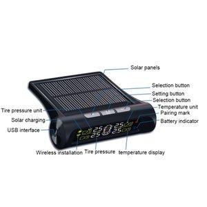 Drop Ship Solar USB Tire Air Pressure Gauge Meter Set Digital LCD Display Car Wheel Tyre Diagnostic Tools V-Best