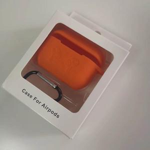 Para Airpods Pro Caso 2019 macio TPU capa de silicone sem fio Bluetooth Headphone Multicolor Capa protetora para Air Pods 3 Com mosquetão