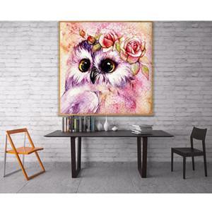 Owl,Cute,Diamond Embroidery,Full,5D,DIY,Diamond Painting,Oil Painiting,Cross Stitch,Needlework,Round Rhinestone,Home Decoration