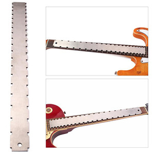 Notched Straight Edge Fingerboard Ruler Guitar Stainless Steel Luthier Tool