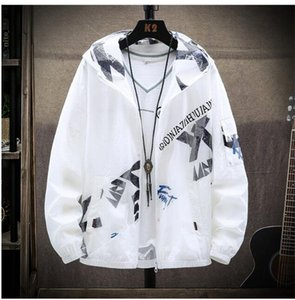 Sun protection clothing men's trend summer 2020 new ultra-thin breathable jacket men's sun protection clothing thin tide brand jacket