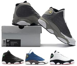 13 Atmosphere Grey 13s BARONS Atmosphere Grey DIRTY BRED 2013 RELEASE BARONS أحذية رياضية مع صندوق بالجملة رجال نساء أحذية كرة السلة