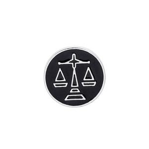 2019 Personalidade Tendência Broche Pin Libra Simbolismo Simbólico Equilíbrio de Peso Man Mulher Casaco Acessórios Festa de Aniversário Presente