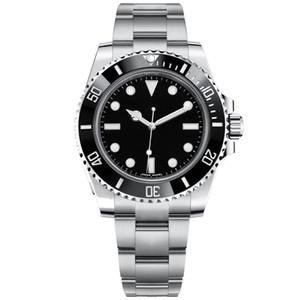 Automático para hombre 116610 Negro Relojes deslizamiento de bloqueo de cierre de cerámica Bisel Chrono Fecha Acero Inoxidable Orologio Di Lusso luminosa 5ATM impermeable