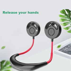 le sport Usb Draagbare Leafless ventilateur Ventilator rechargeable mains libres Neckband Lazy cou Hanging style Mini Sport Fan pour Bureau