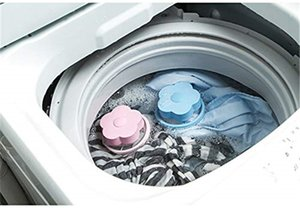 4 шт Lint Catcher для стиральной машины Lint Trap Плавучий фильтр волос Fur Catcher Прачечная Многоразовые волос Lint Mesh Bag (синий, розовый)