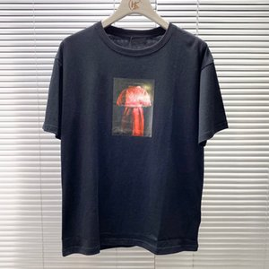 New Fashion Week Dress Logo Printed T-shirt Men Women Summer High Street Tee Casual High End Short Sleeves Breathable Tee HFYMTX856