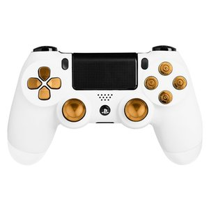 Bottoni metallici Bullet Pulsanti ABXY + Thumbsticks Thumb Grip e Chrome D-pad per Sony PS4 DualShock 4 Controller Mod Kit