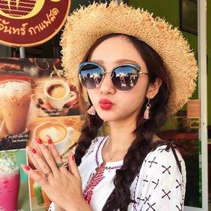 도매 진주 디자이너 선글라스 고품질 상표 극화 된 렌즈 태양 안경 안경 여성 안경 금속 프레임 5 색 2039