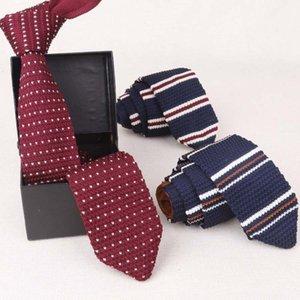 Mens Suits Knit Tie Plain Necktie For Wedding Party Tuxedo Striped Woven Skinny Gravatas Cravats Accessories1