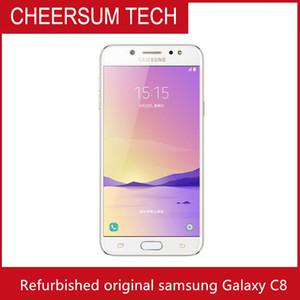Débloqué Samsung Galaxy C8 SM-C7100 3G RAM 32G ROM 16MP sim double caméra avant Octa base 4G Lte Smartphone téléphone mobile