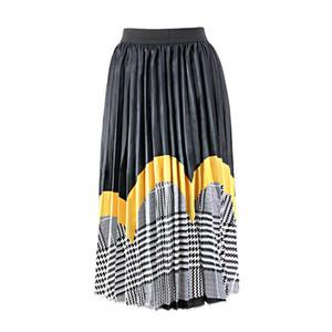 Designer Women Summer Dress Skirt Brand Summer Large Size Luxury Women's Pleated Skirt Digital Print Skirt Factory Direct2
