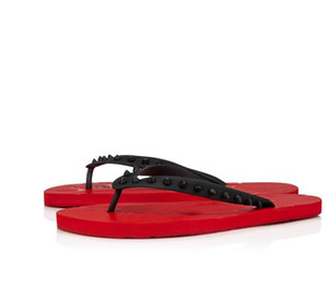 Été luxe Loubi flip plat rouge Bas Hommes Diapositives extérieur Plage Sandales SlippersTide Homme Accueil Hommes Flip Flop avec la boîte, Taille 38-46