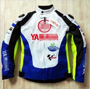 Yamaha trajes de montar motocicleta compite con los juegos adapte a la motocicleta de los hombres de la ropa transpirable anti-caída chaqueta caliente azul y blanco a prueba de viento Yamaha