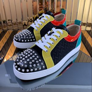 Italy Design Men Shoes Fashion Sneaker Red Bottom Shoes Spiked Flat Shoes,Birthday Party Dress Casual Sneakers High Shoe Trainers Wholesale