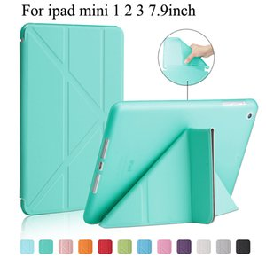 9.7 inch For iPad air Case Mini Pro Back Cover with Holder Multi-fold PU Leather Transformer Shock-Resistant Smart Auto Wake Sleep Cover