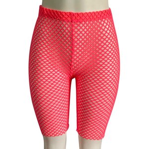 Sexy Fishnet Cover-Ups shorts women See Through Hollow Out High Waist Shorts Legging beachwear bathing suit 5 colors