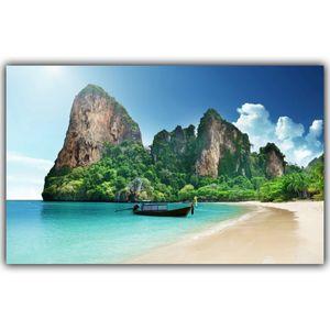 Тропический пляж на море Пейзаж Poster Art Silk Poster Домашнего украшение Фото Гостиных обои