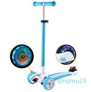 a forma di T dei All'ingrosso-Bambini piede Scooter lampeggiante Lega Calcio Bambini Scooter For Kids Scooter ruote in PU con l'alluminio