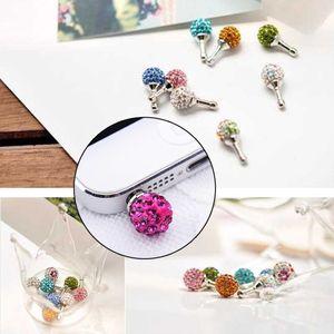 3,5mm kristall strass diamant anti staubstecker für iphone samsung kopfhörer jack stecker handy kopfhörer zubehör