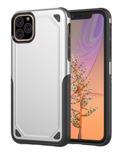 إلى iPhone 11 Pro XS MAX XR Samsung S10E Note 10 كفر حافظة ارمور غطاء لسامسونج S9 S8 بلس 2in1 واقي غطاء