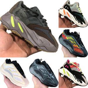 2020 Azaël 700 V3 statique réfléchissant Enfants Mesh respirant Running Shoe Originals Kanye West 700 V2 Enfants Tampon en caoutchouc Chaussures de sport