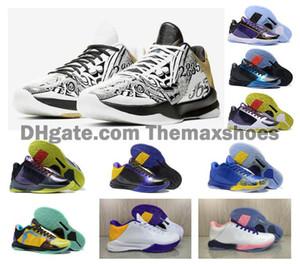 Retro Classics Erkek Bean Palyaço V 5 5S Mamba Basketbol Ayakkabı Yüksek kaliteli Eğitmenler Spor Spor ayakkabılar Boyut 7-12