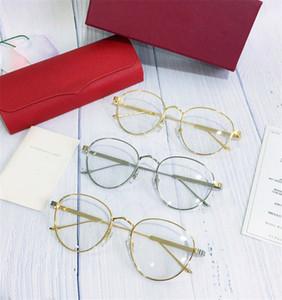 Новые мужские дизайнерские рамки круглой формы позолоченные ретро винтажный стиль Ca 0016 унисекс открытый стиль рецепт оптический