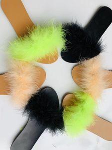 Kadınlar Kadın Sandalias Yaz Bayan Ayakkabı In Stok Cheap için Tüy Kadınlar Terlik Flatform Ev Kadınlar Ayakkabı Sandalet Slaytlar