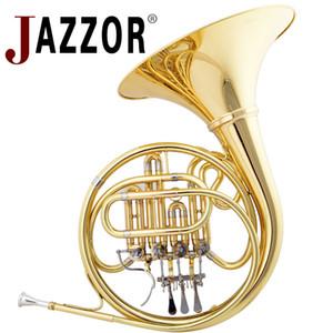 Профессиональный французский рог JAZZOR JZFH-210 4 ключ латунь Рог однорядный Сплит B плоские Духовые инструменты французский рог мундштук
