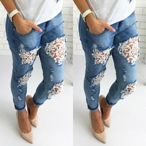 CFYH Vestuário buraco Boyfriend jeans rasgados mulheres calças Arrefecer denim do vintage jeans reta para Mid cintura menina casual calças femininas