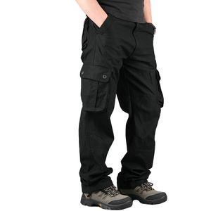 Мужчины Cargo Pants Casual Cotton брюки Мульти карманные 29-44 размера Новых Мужчины Мода Military Cargo Pants