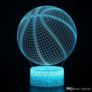 Distance 16 couleurs thème Basketball Lampe LED 3D nuit Changement de couleur tactile Lampe Mood cadeau de Noël Dropshippping