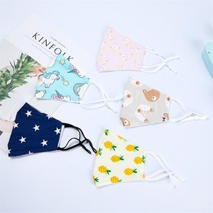 Pure cotton design face mask for children spring and summer air permeable cotton cloth thin students dust prevention sunscreen
