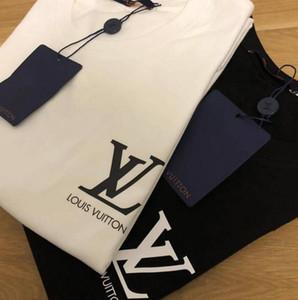 2020 yaz düşük fiyat yüksek kalite tişört pamuk yuvarlak boyun nefes kısa kollu erkek kadın tasarımcı marka logosu kısa kollu baskı - 6
