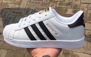 2019 Superstar Original White Hologram Iridescent Junior Gold Superstars Sneakers أوريجينالز سوبر ستار نساء رجال أحذية رياضية