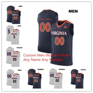 2019 Custom Men Kids Women UVC Basketball Jersey Virginia Cavaliers 5 Kyle Guy Jersey Cualquier nombre Número 2019 Campeones NCAA Basketball Jerseys