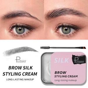 Pudaier Brow Seda Crema Estilo Larga Duración de la ceja de endurecimiento del gel de maquillaje a prueba de agua vitamina E natural de la ceja del Tinte cejas Feathery