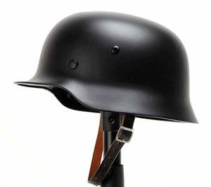 tomwang2012 Boxe Academia Suprimentos revestimento de couro WWII WW2 German Army Preto M35 Helmet Chin Strap War Collection reconstituições