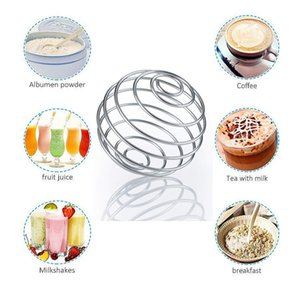 Stainless Steel Whisk Ball Mixed Shaker Bottle Protein Fitness Water Bottle Juice Milk Mixer Creative Mixing Bar Drink Gadgets